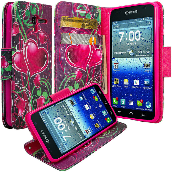 kyocera hydro view wallet case - heart strings - www.coverlabusa.com