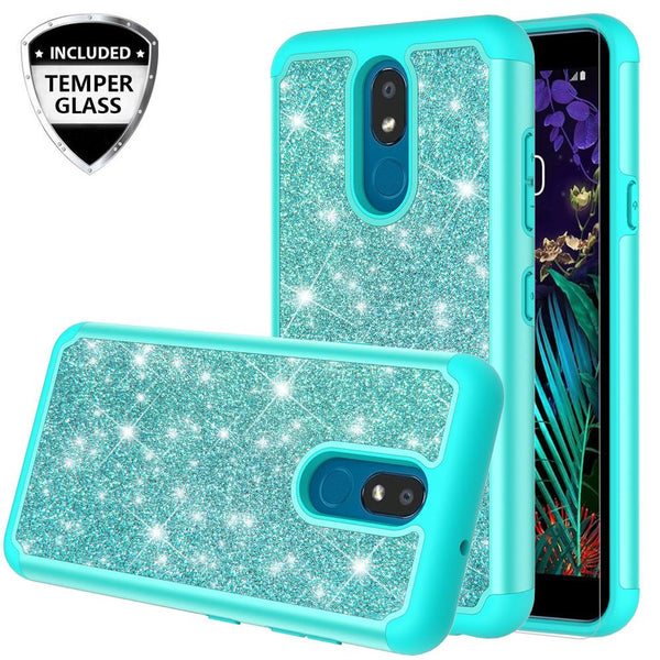 lg escape plus glitter hybrid case - teal - www.coverlabusa.com