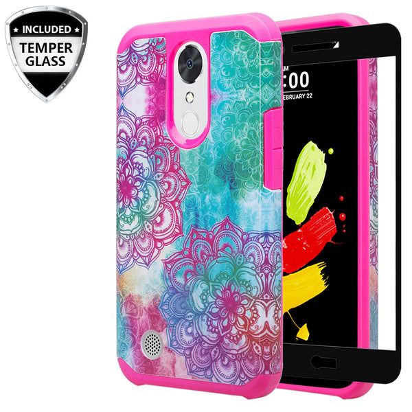 lg k20 V, K20 Plus hybrid case - teal flower - www.coverlabusa.com
