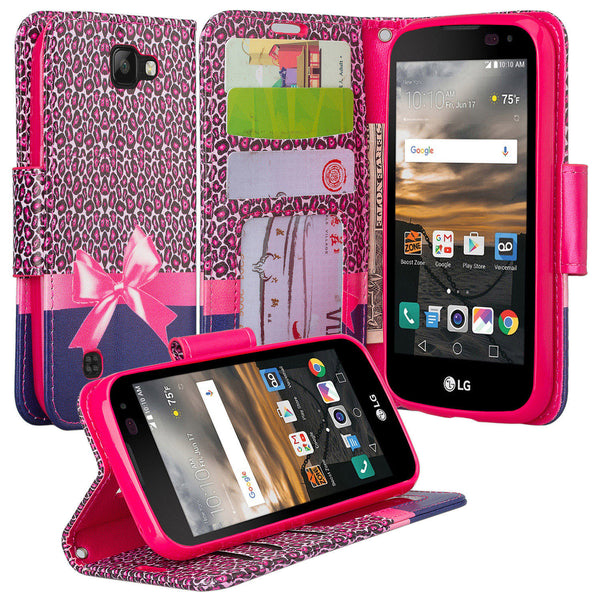 lg k3 case - PU leather wallet - cheetah prints - www.coverlabusa.com