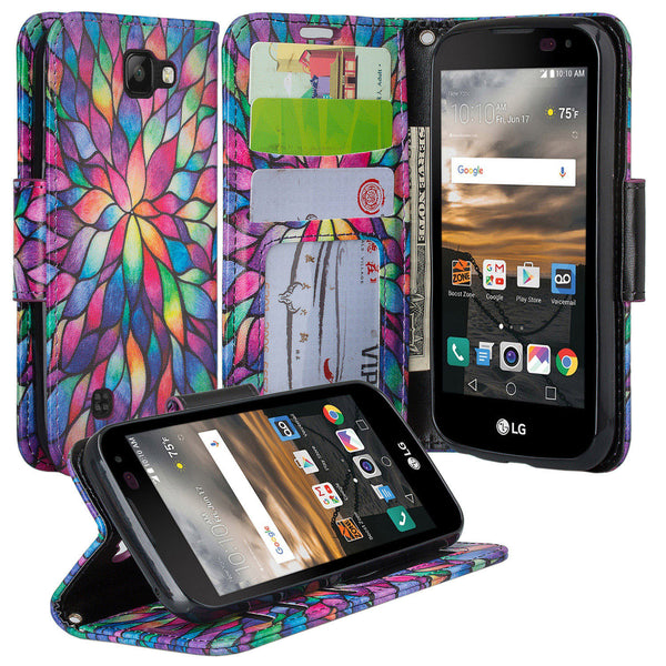 lg k3 wallet case - rainbow flower - www.coverlabusa.com