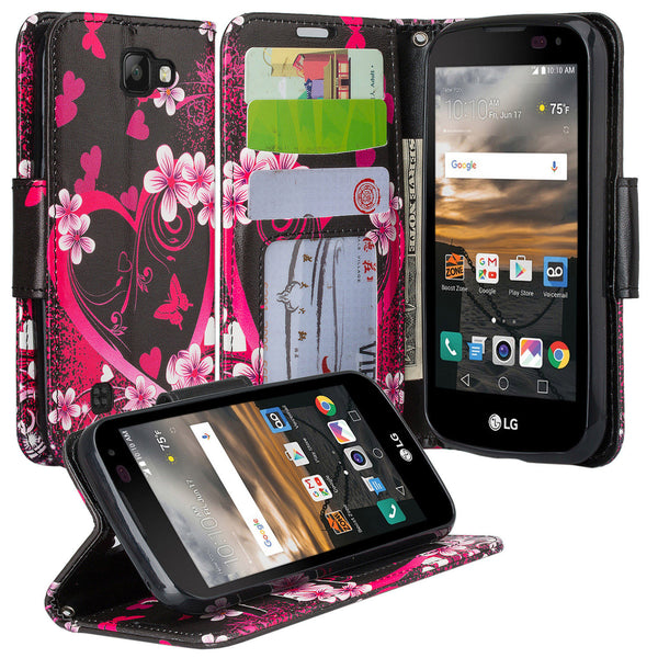 lg k3 wallet case - heart butterflies - www.coverlabusa.com