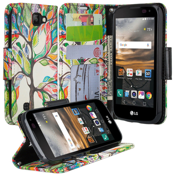 lg k3 wallet case - colorful tree - www.coverlabusa.com