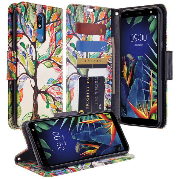LG K40 Wallet Case - vibrant tree - www.coverlabusa.com