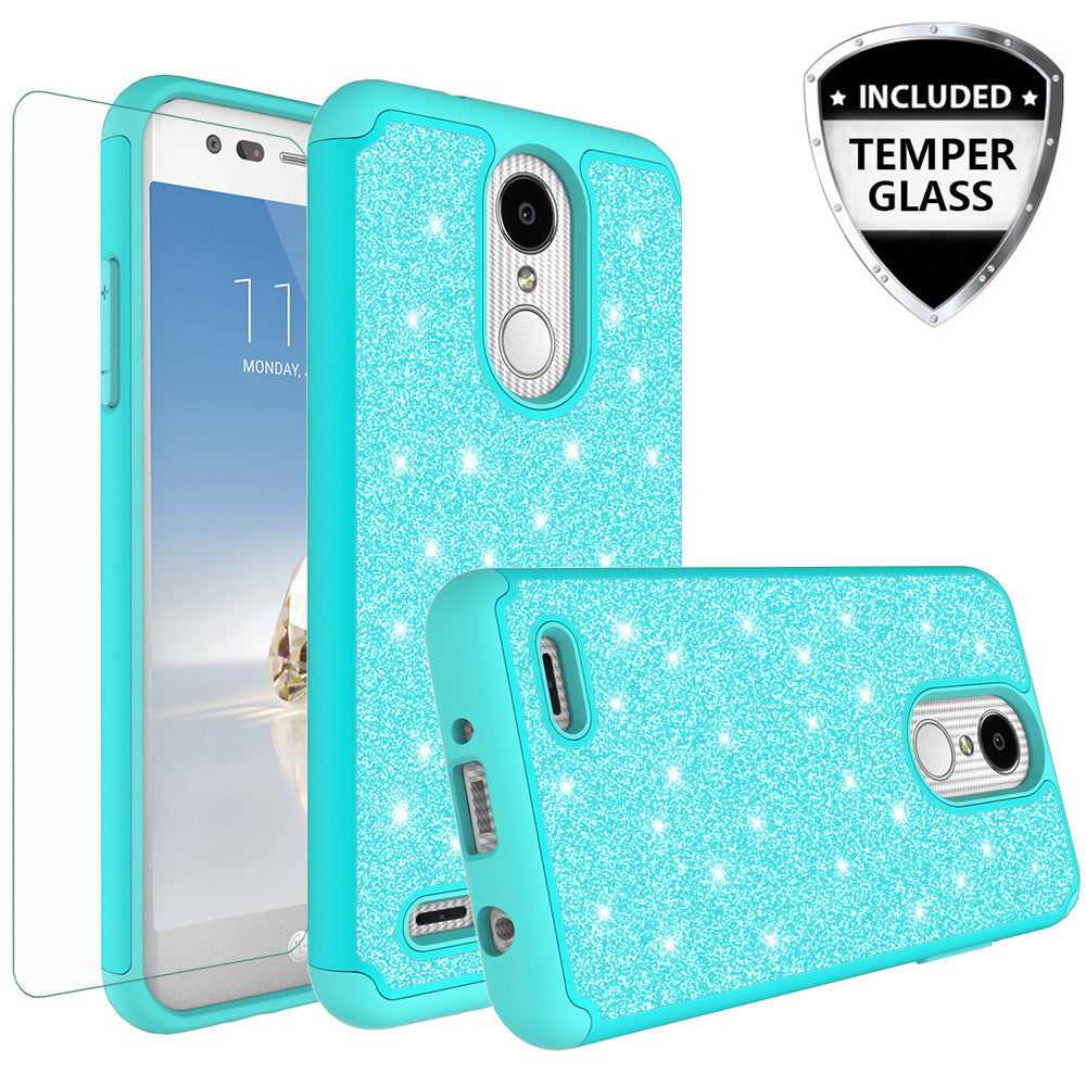 separation shoes 1ccff 983e0 LG Aristo 2 Plus Case, Aristo 2, LG Tribute Dynasty, Rebel 3, Zone 4,  Glitter Bling Heavy Duty Shock Proof Hybrid Case with [HD Screen Protector]  Dual ...