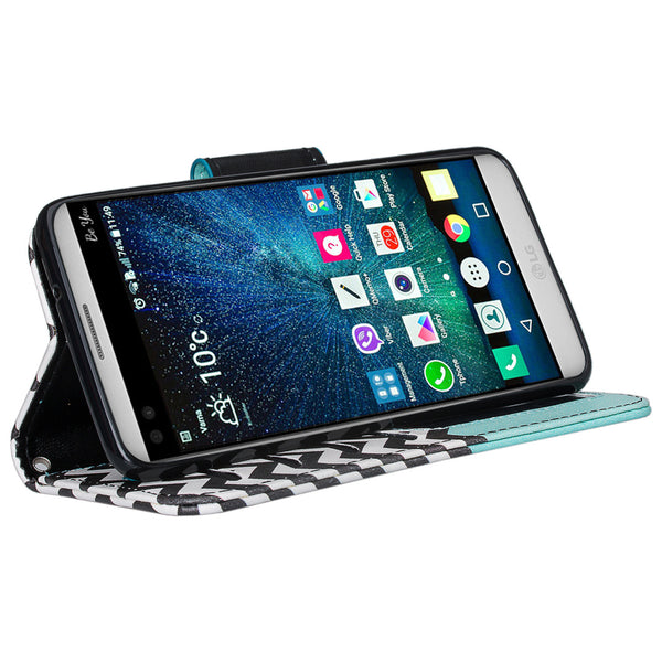 LG LV3 teal anchor wallet case - www.coverlabusa.com