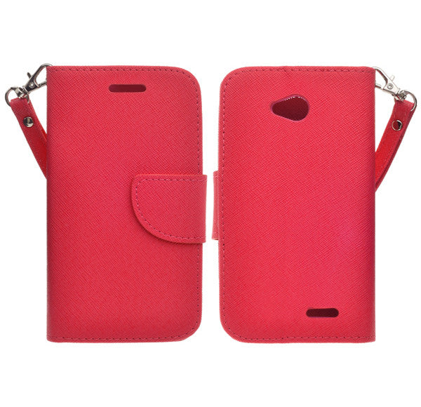 LG L70 Pu leather wallet case - Red - www.coverlabusa.com