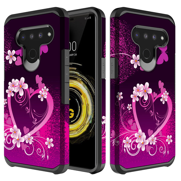 lg v50 thinq hybrid case - heart butterflies - www.coverlabusa.com