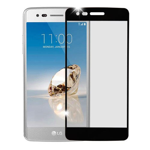 lg aristo screen protector, lg aristo full temper glass - black - www.coverlabusa.com