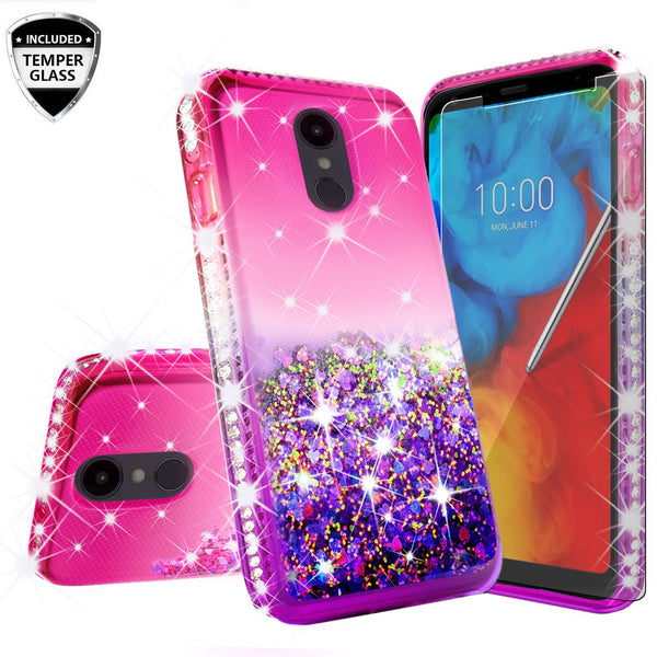 glitter phone case for lg escape plus - hot pink/purple gradient - www.coverlabusa.com