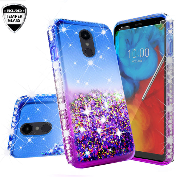 glitter phone case for lg escape plus - blue/purple gradient - www.coverlabusa.com