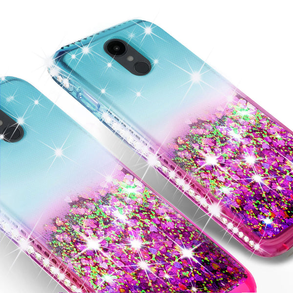glitter phone case for lg escape plus - teal/pink gradient - www.coverlabusa.com