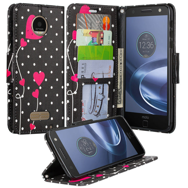Moto Z Force Droid Case Polka Dot Hearts, WWW.COVERLABUSA.COM