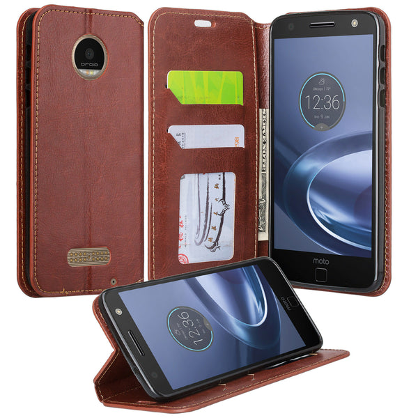 Moto z force droid Case - Brown - www.coverlabusa.com