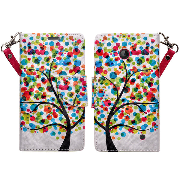 Nokia Lumia 635 Wallet Case - 4 season tree - www.coverlabusa.com
