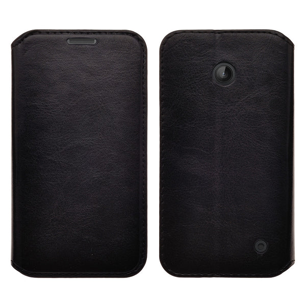 Nokia Lumia 635 Wallet Case - black - www.coverlabusa.com
