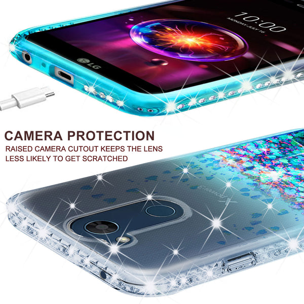 clear liquid phone case for lg x power 3 - teal - www.coverlabusa.com