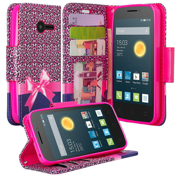 Alcatel Onetouch Pixi Plusar Case | Onetouch Evolve 2 Pu leather wallet case - cheetah prints - www.coverlabusa.com