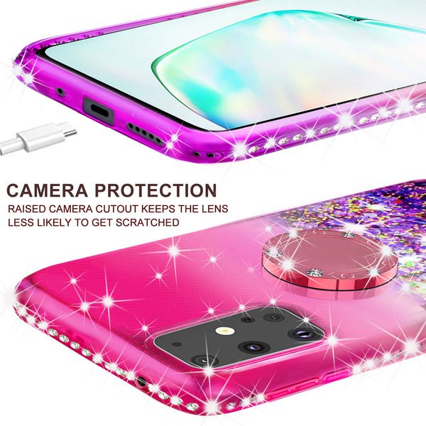 glitter phone case for samsung galaxy s20 - hot pink/purple gradient - www.coverlabusa.com