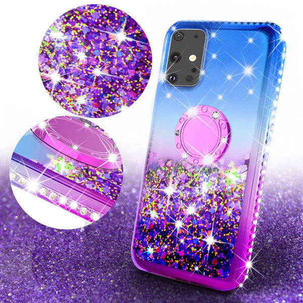 glitter phone case for samsung galaxy s20 - blue/purple gradient - www.coverlabusa.com