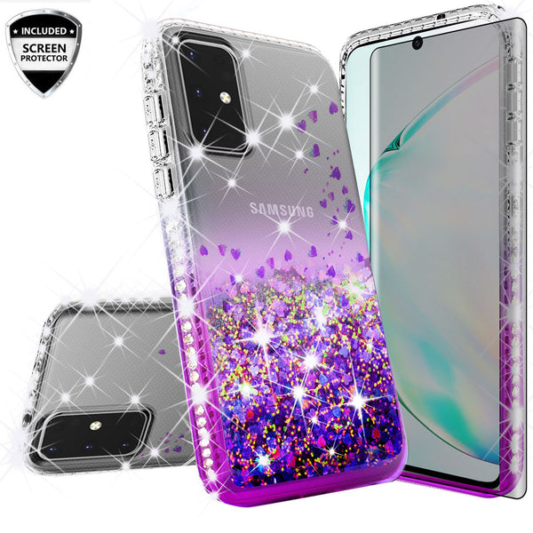 clear liquid phone case for samsung galaxy s20 plus - purple - www.coverlabusa.com