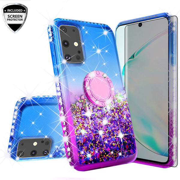glitter phone case for samsung galaxy s20 ultra - blue/purple gradient - www.coverlabusa.com