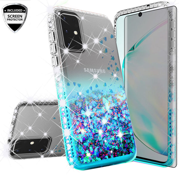 clear liquid phone case for samsung galaxy s20 - teal - www.coverlabusa.com