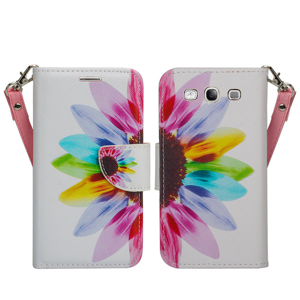 samsung galaxy S3 leather wallet case - vivid sunflower - www.coverlabusa.com
