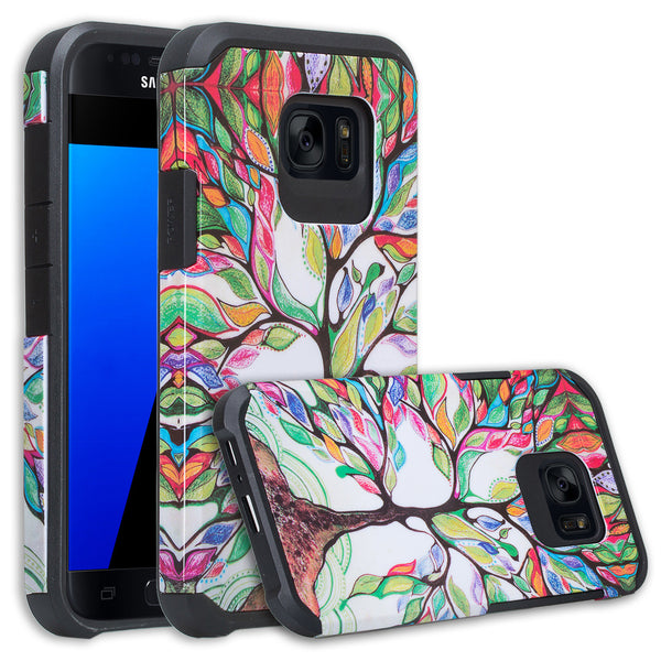samsung galaxy s7 active hybrid case - colorful tree - www.coverlabusa.com