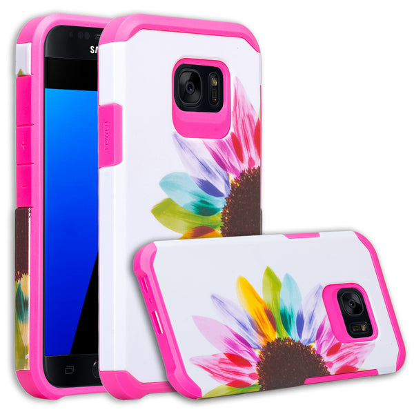 samsung galaxy s7 active hybrid case - vivid sunflower - www.coverlabusa.com