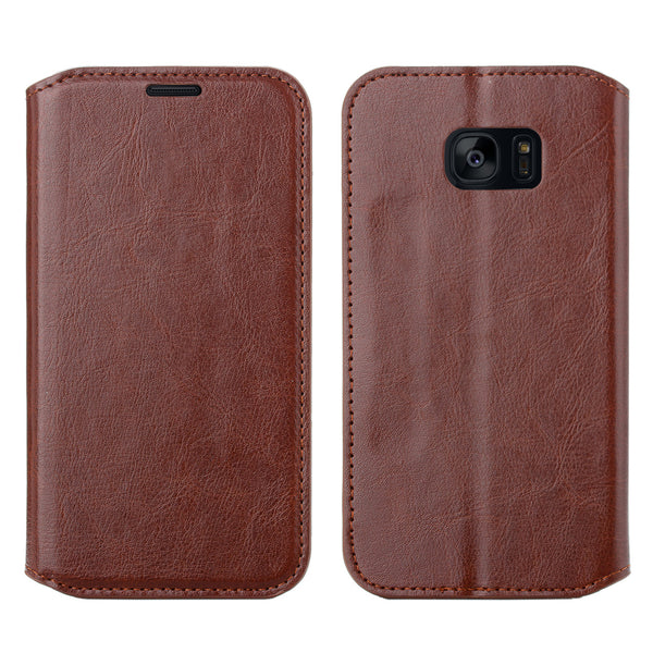 samsung galaxy s7 active leather wallet case - brown - www.coverlabusa.com