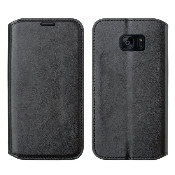 samsung galaxy s7 active leather wallet case - black - www.coverlabusa.com
