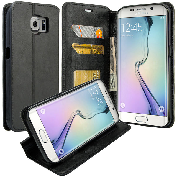 samsung galaxy S7 cover, galaxy S7 wallet case - Black - www.coverlabusa.com