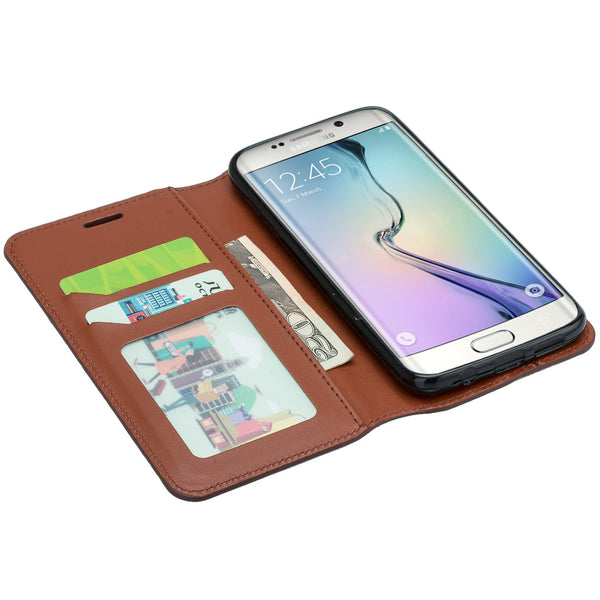 galaxy S7 cover, galaxy S7 real leather case - Brown - www.coverlabusa.com