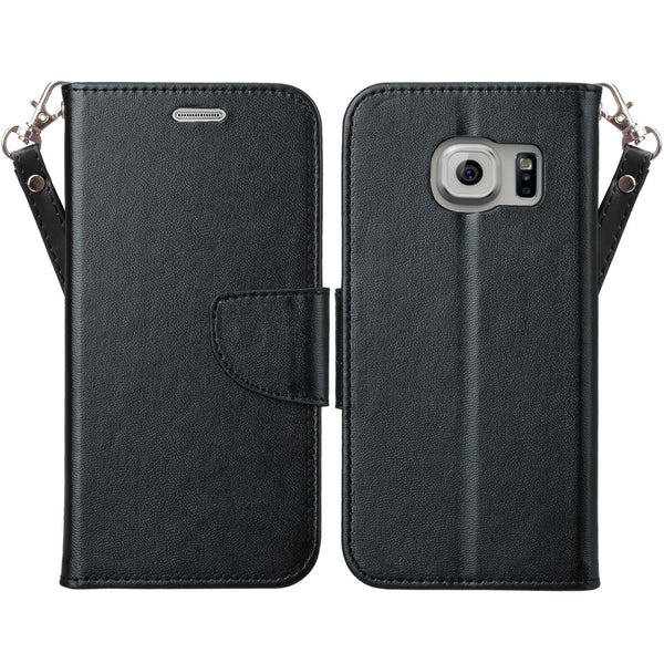 galaxy S7 cover, galaxy S7 wallet case - Solid Black - www.coverlabusa.com