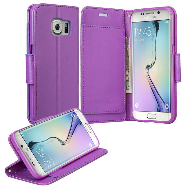 galaxy s7 edge cover, galaxy s7 edge wallet case - Solid Purple - www.coverlabusa.com
