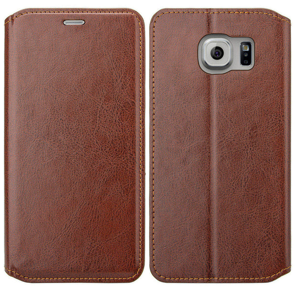 galaxy S6 Edge Plus cover, galaxy S6 Edge Plus wallet case - Brown - www.coverlabusa.com