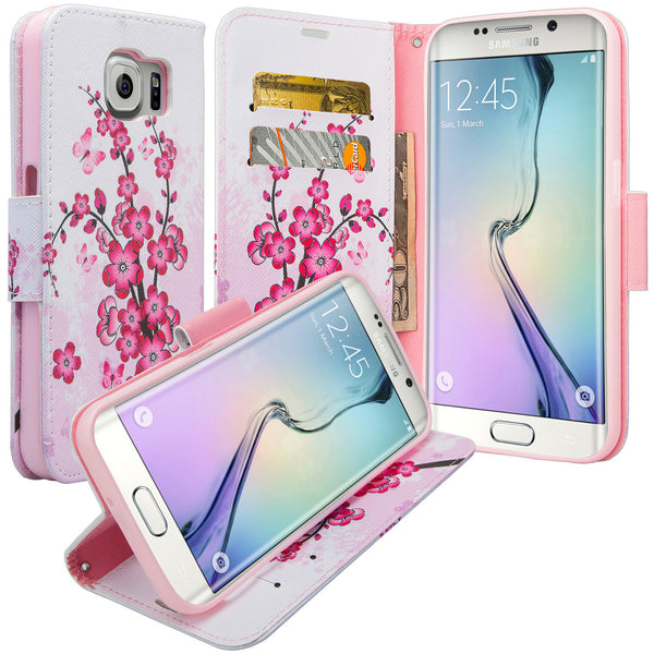 galaxy S6 Edge Plus cover, galaxy S6 Edge Plus wallet case - Cherry Blossom - www.coverlabusa.com