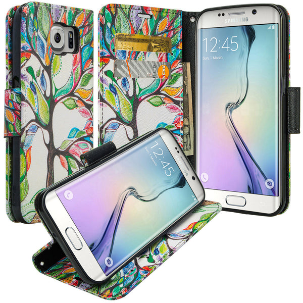 galaxy S6 Edge Plus cover, galaxy S6 Edge Plus wallet case - Colorful Tree - www.coverlabusa.com