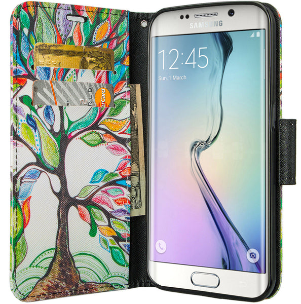 galaxy S7 cover, galaxy S7 wallet case - Colorful Tree - www.coverlabusa.com
