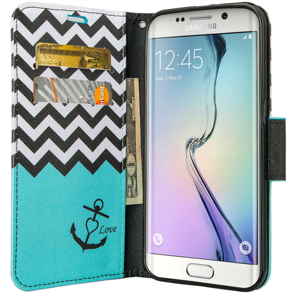 galaxy S6 active wallet case - Teal Anchor - www.coverlabusa.com