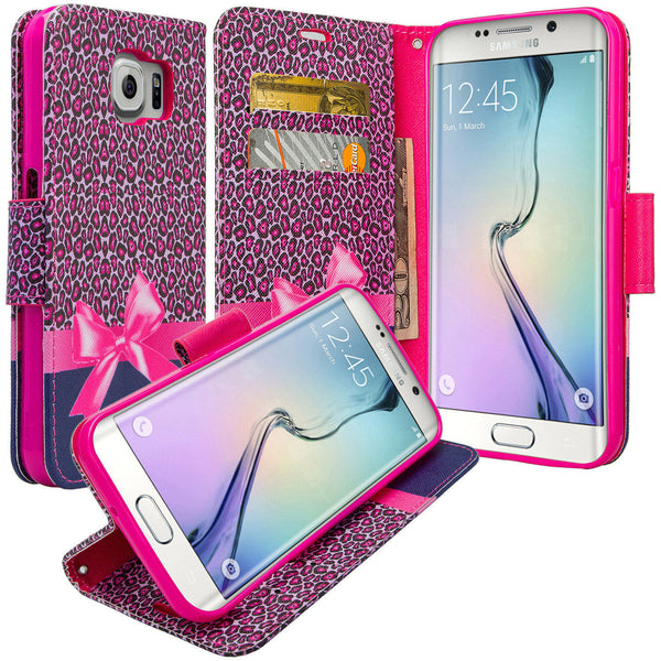 galaxy S6 Edge Plus cover, galaxy S6 Edge Plus wallet case - Cheetah Prints - www.coverlabusa.com