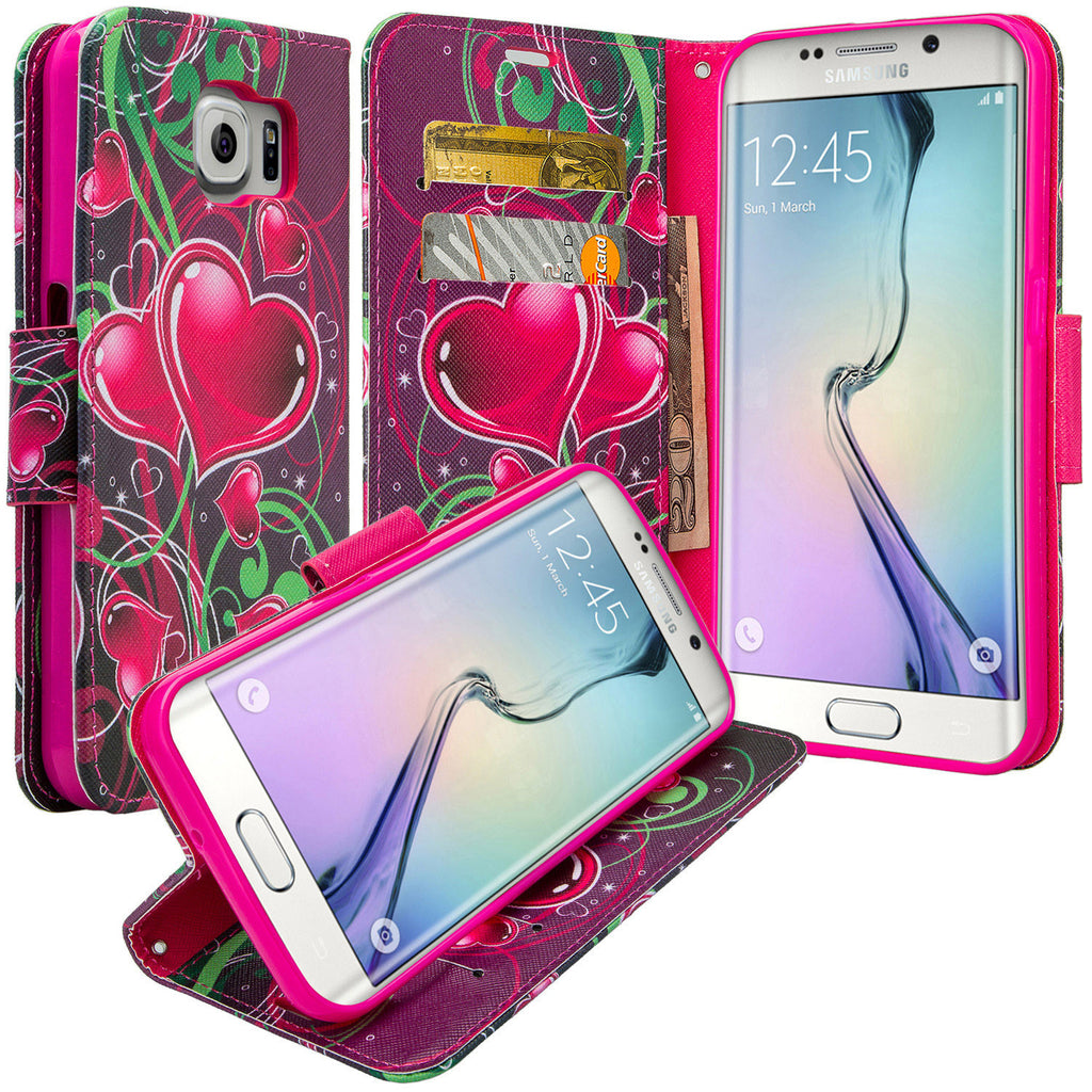 galaxy S6 Edge Plus cover, galaxy S6 Edge Plus wallet case - Heart Sensation - www.coverlabusa.com