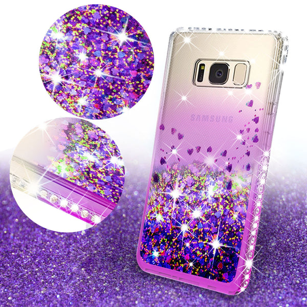 clear liquid phone case for samsung galaxy s8 plus - purple - www.coverlabusa.com