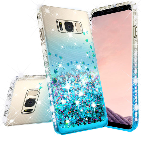 clear liquid phone case for samsung galaxy note 5 - teal - www.coverlabusa.com