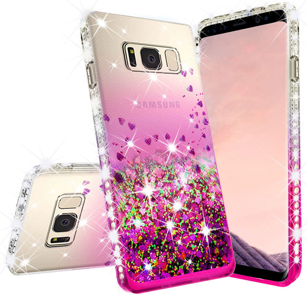 clear liquid phone case for samsung galaxy note 5 - hot pink - www.coverlabusa.com