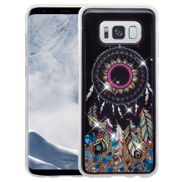 galaxy s8  liquid sparkle quicksand case - dream catcher - www.coverlabusa.com