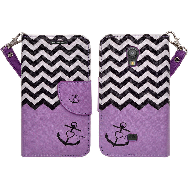 samsung galaxy light leather wallet case - purple anchor - www.coverlabusa.com