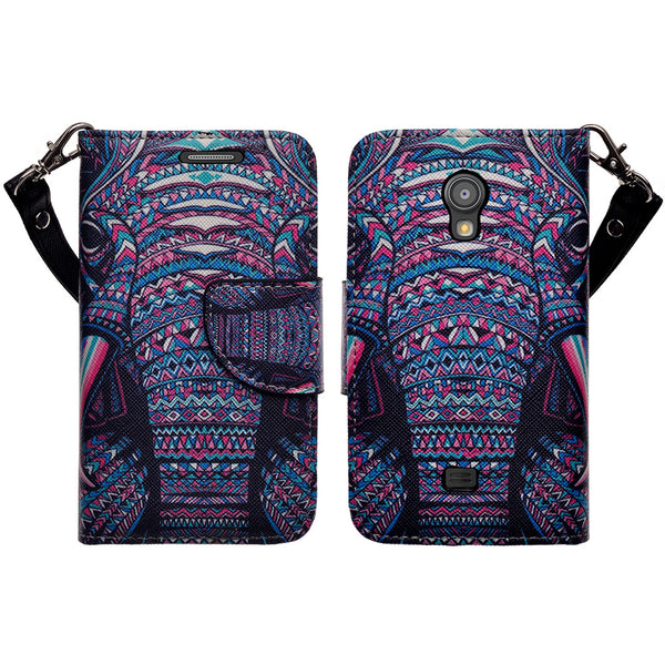 samsung galaxy light leather wallet case - tribal elephant - www.coverlabusa.com