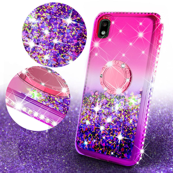 glitter phone case for samsung galaxy a10e - hot pink/purple gradient - www.coverlabusa.com